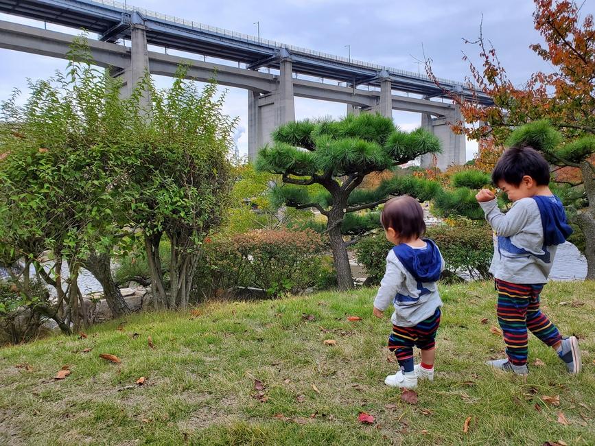 瀬戸大橋と公園