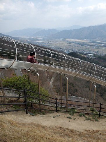 景色抜群な滑り台