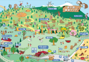 大山森の国園内マップ